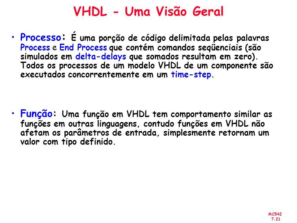 VHDL - Uma Visão Geral