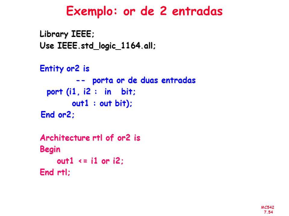 Exemplo: or de 2 entradas