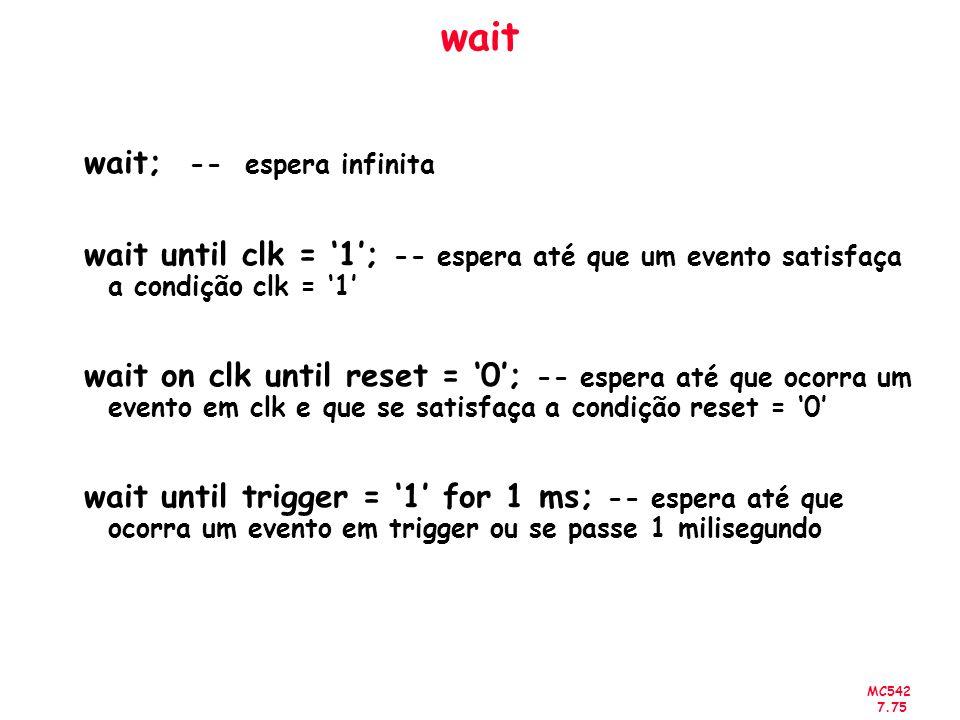 wait wait; -- espera infinita