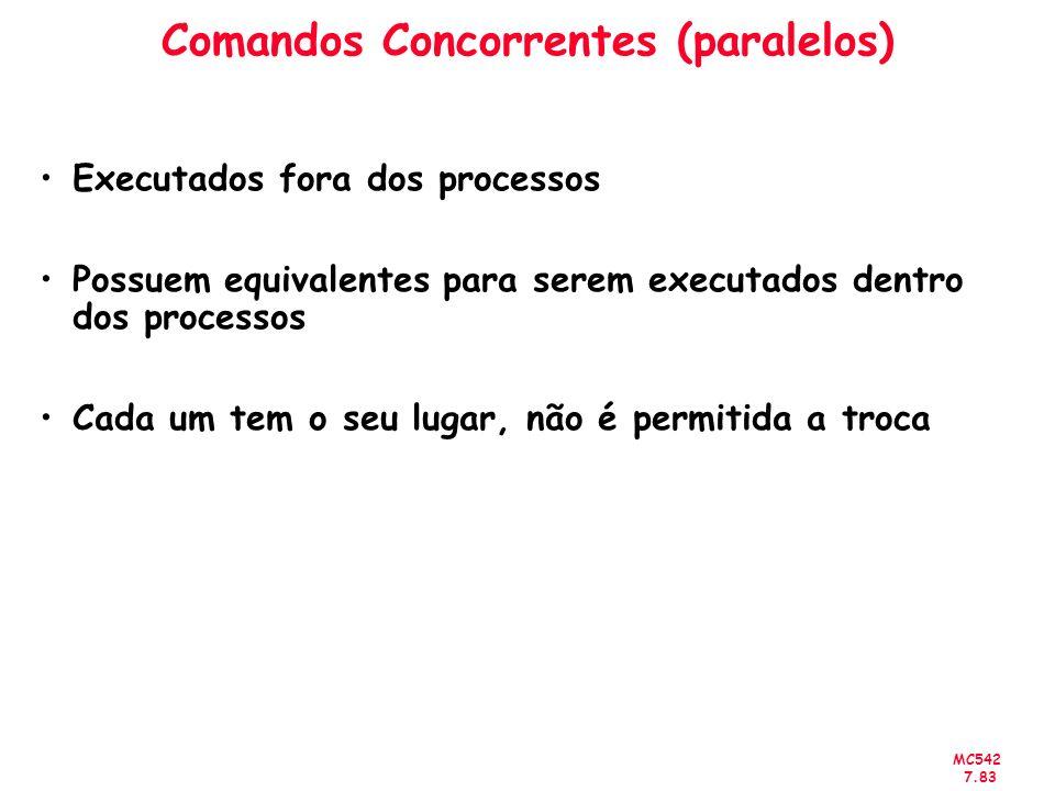 Comandos Concorrentes (paralelos)