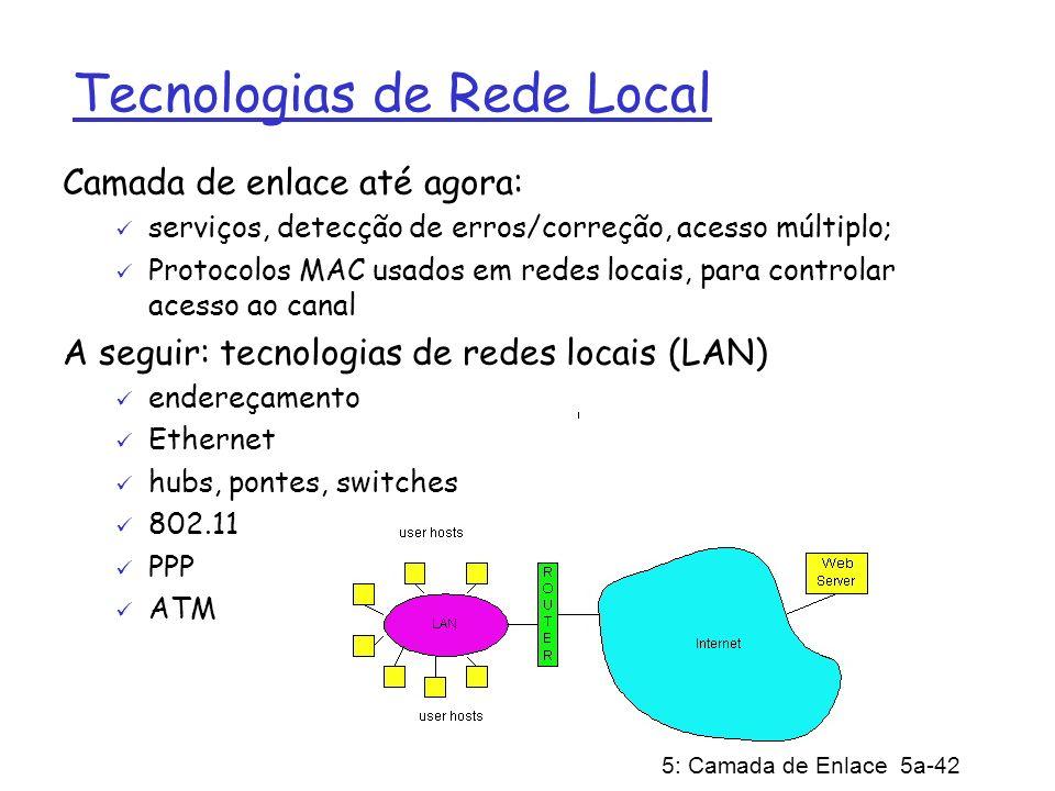 Tecnologias de Rede Local
