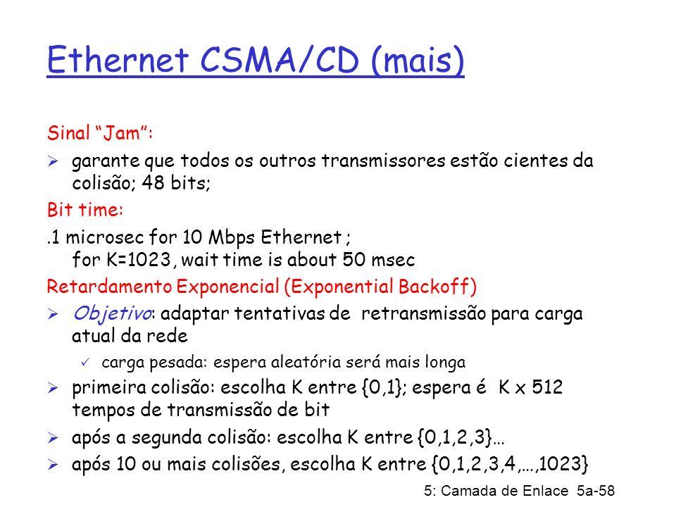 Ethernet CSMA/CD (mais)