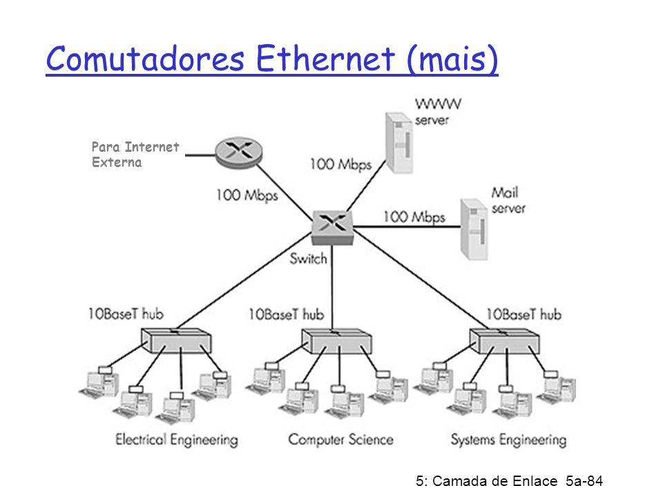 Comutadores Ethernet (mais)