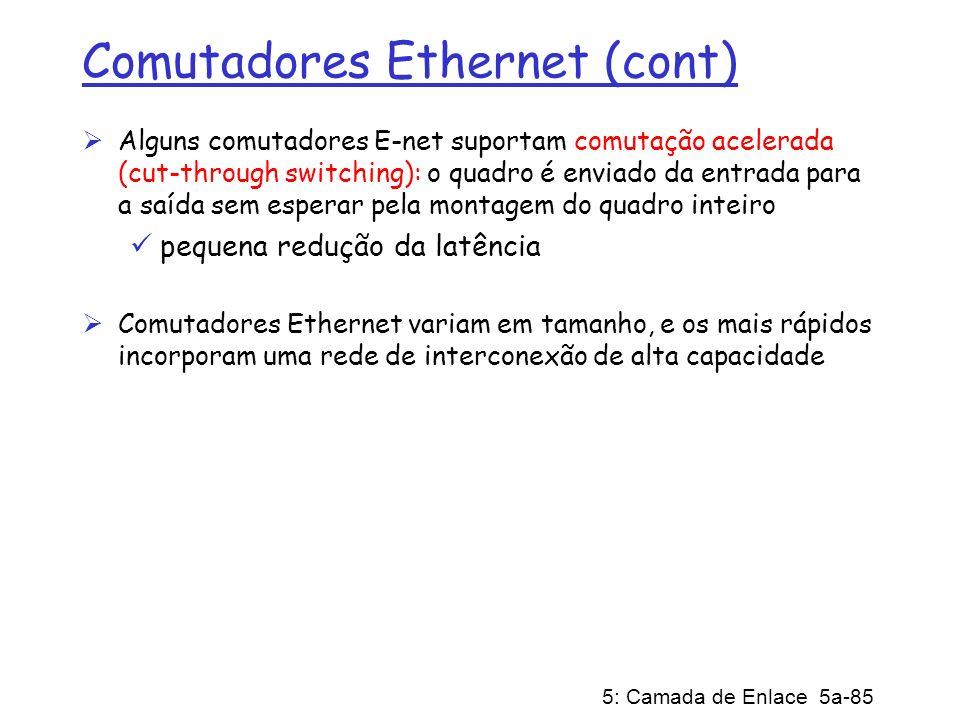 Comutadores Ethernet (cont)