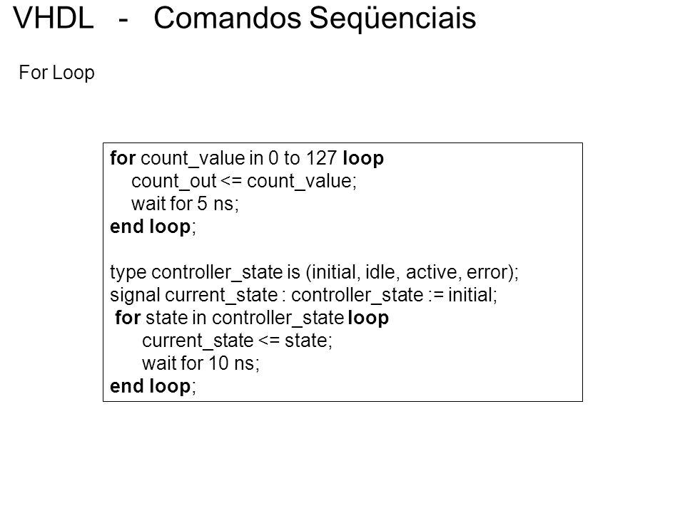 VHDL - Comandos Seqüenciais