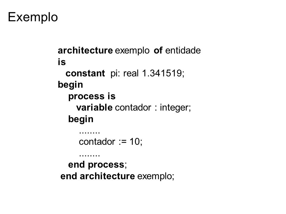 Exemplo architecture exemplo of entidade is
