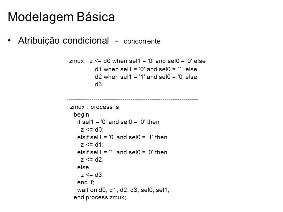 Modelagem Básica Atribuição condicional - concorrente