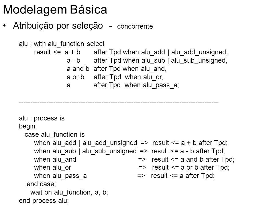 Modelagem Básica Atribuição por seleção - concorrente
