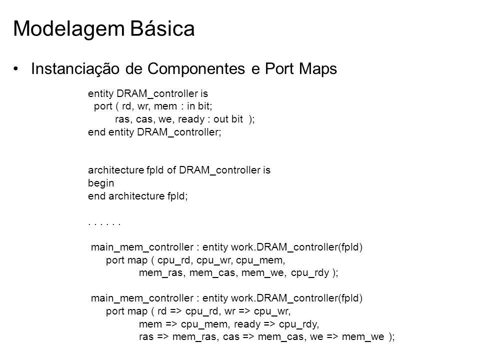 Modelagem Básica Instanciação de Componentes e Port Maps