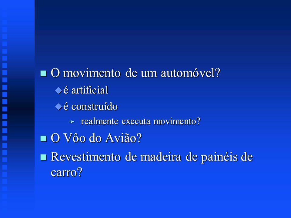 O movimento de um automóvel