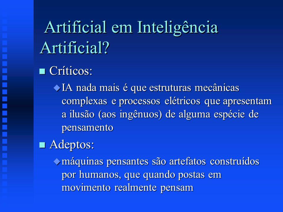 Artificial em Inteligência Artificial