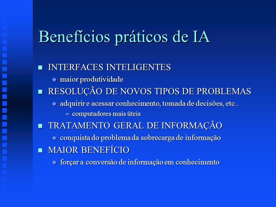 Benefícios práticos de IA