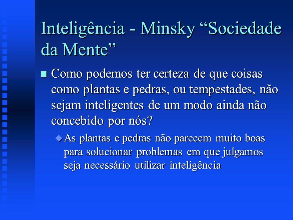 Inteligência - Minsky Sociedade da Mente