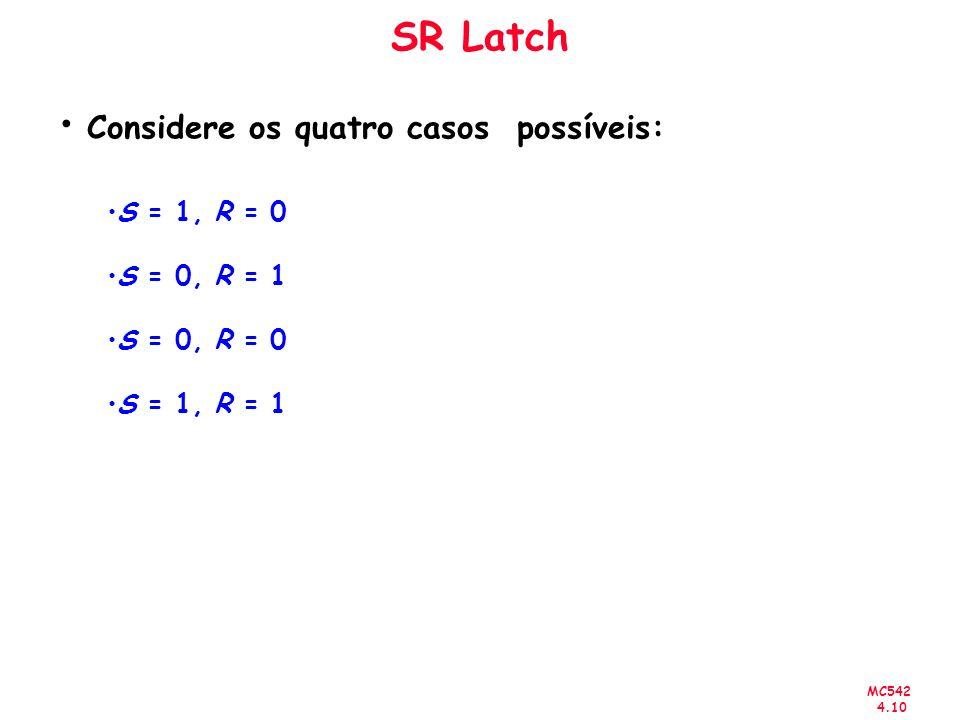 Considere os quatro casos possíveis: