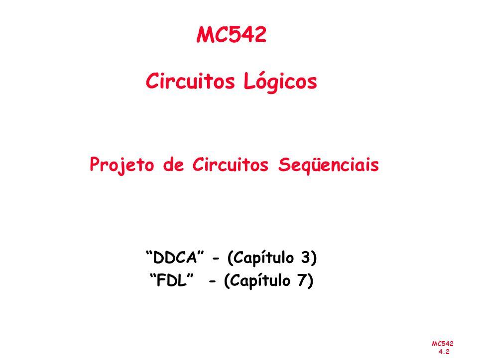 MC542 Circuitos Lógicos Projeto de Circuitos Seqüenciais