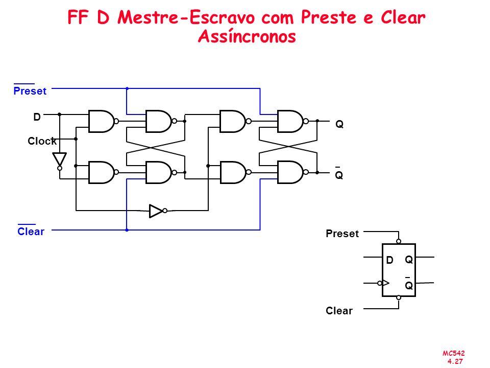 FF D Mestre-Escravo com Preste e Clear Assíncronos