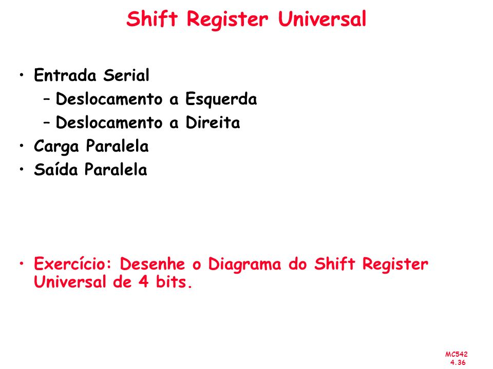 Shift Register Universal