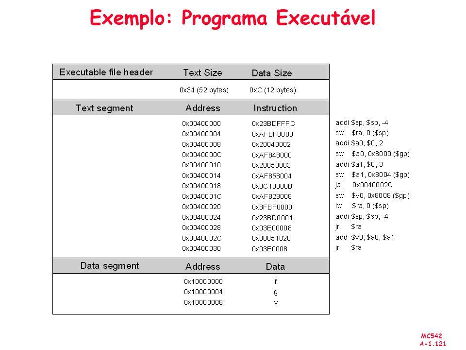 Exemplo: Programa Executável