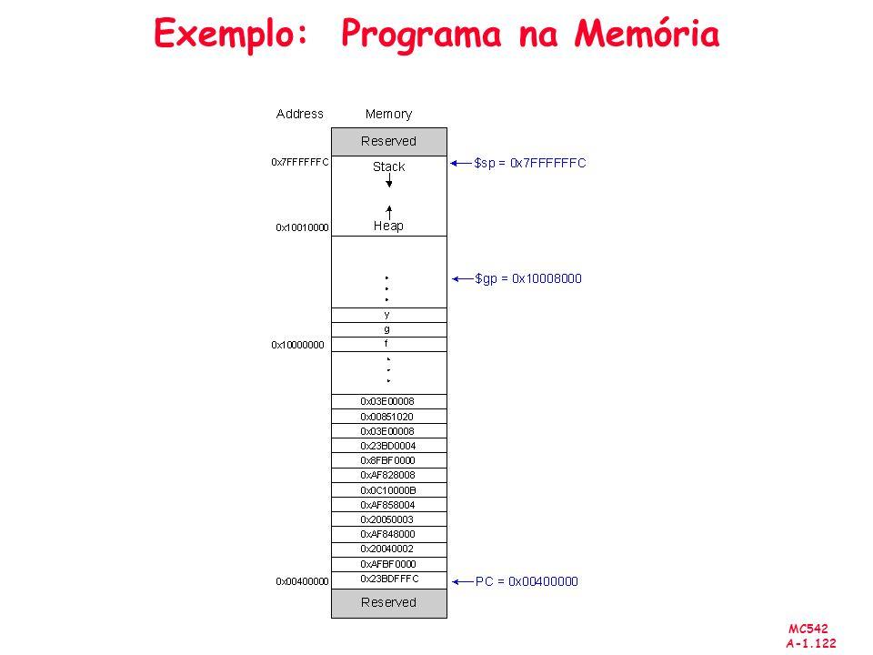 Exemplo: Programa na Memória