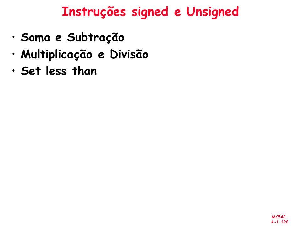 Instruções signed e Unsigned
