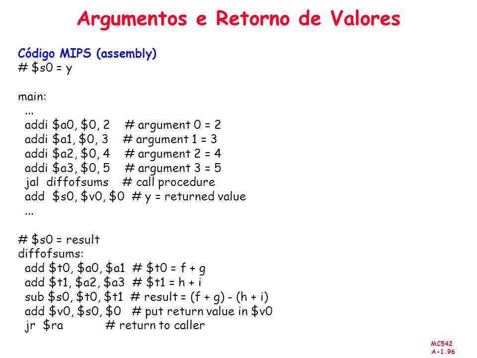 Argumentos e Retorno de Valores
