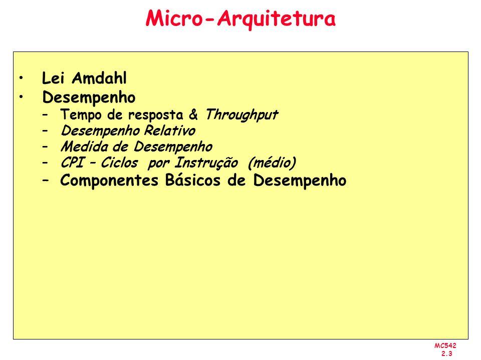 Micro-Arquitetura Lei Amdahl Desempenho