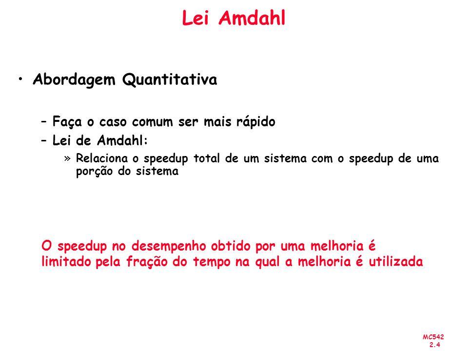 Lei Amdahl Abordagem Quantitativa Faça o caso comum ser mais rápido