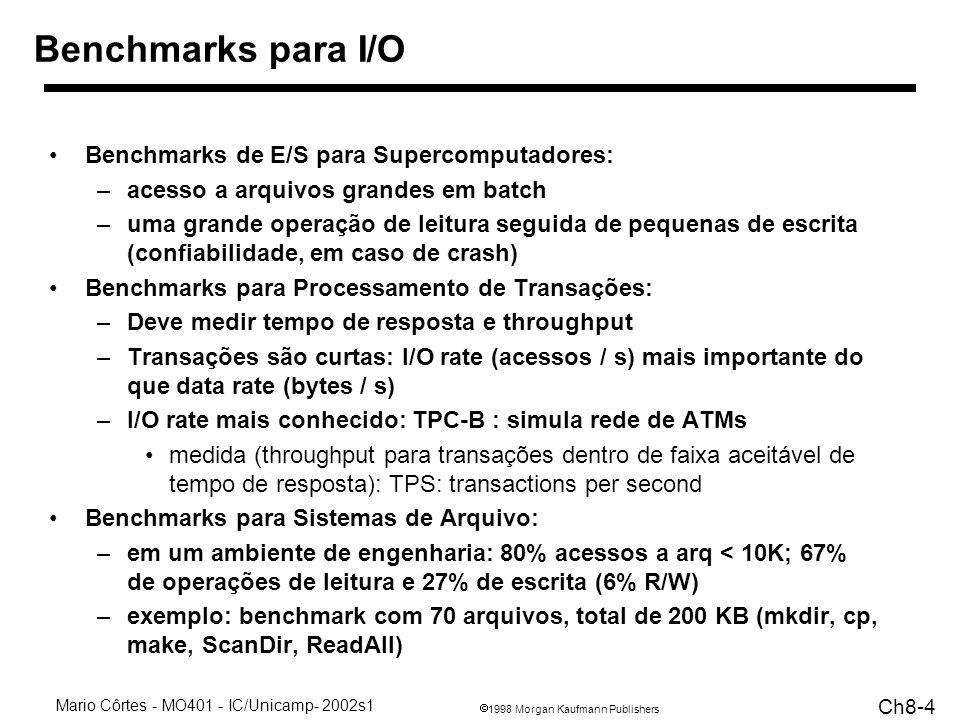 Benchmarks para I/O Benchmarks de E/S para Supercomputadores: