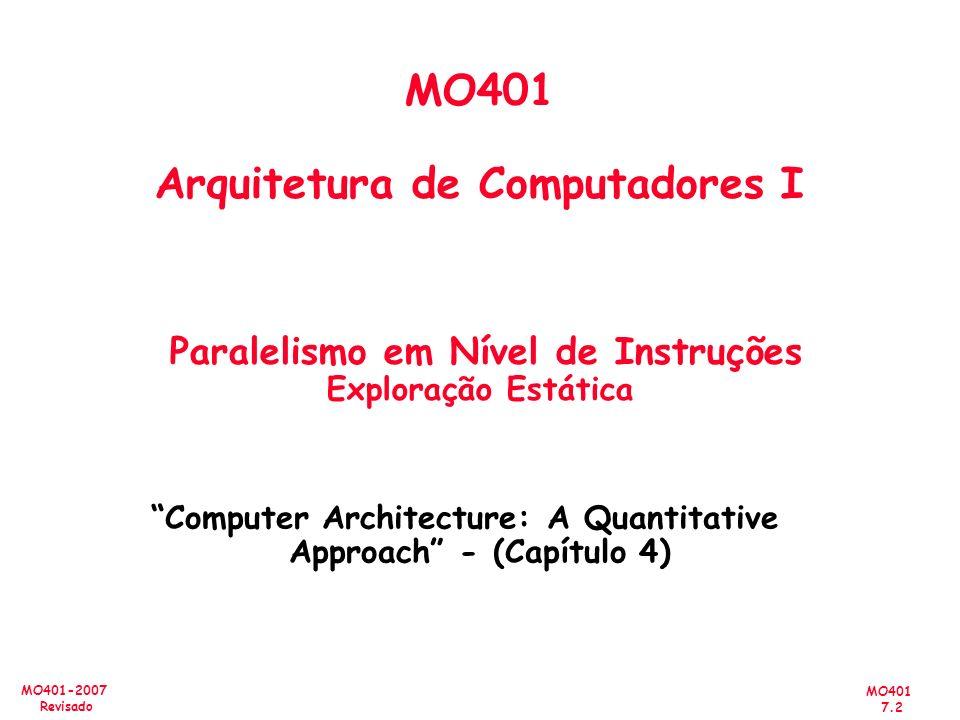 Computer Architecture: A Quantitative Approach - (Capítulo 4)