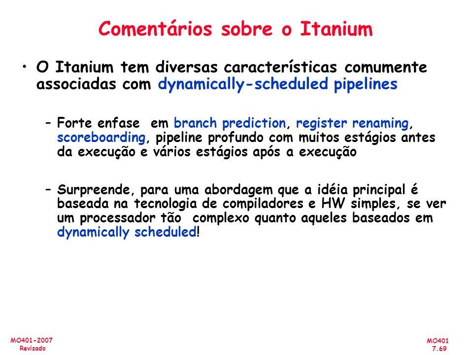 Comentários sobre o Itanium