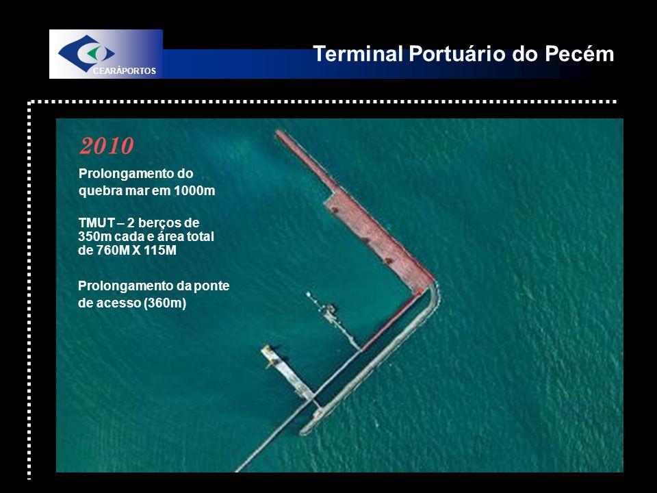 2010 Terminal Portuário do Pecém Prolongamento do quebra mar em 1000m