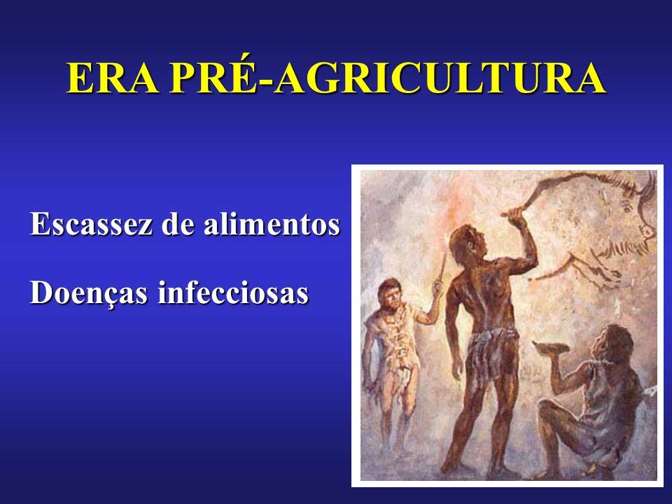 ERA PRÉ-AGRICULTURA Escassez de alimentos Doenças infecciosas