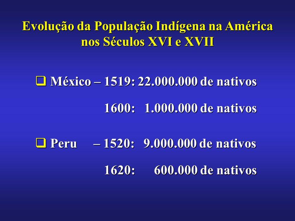Evolução da População Indígena na América nos Séculos XVI e XVII