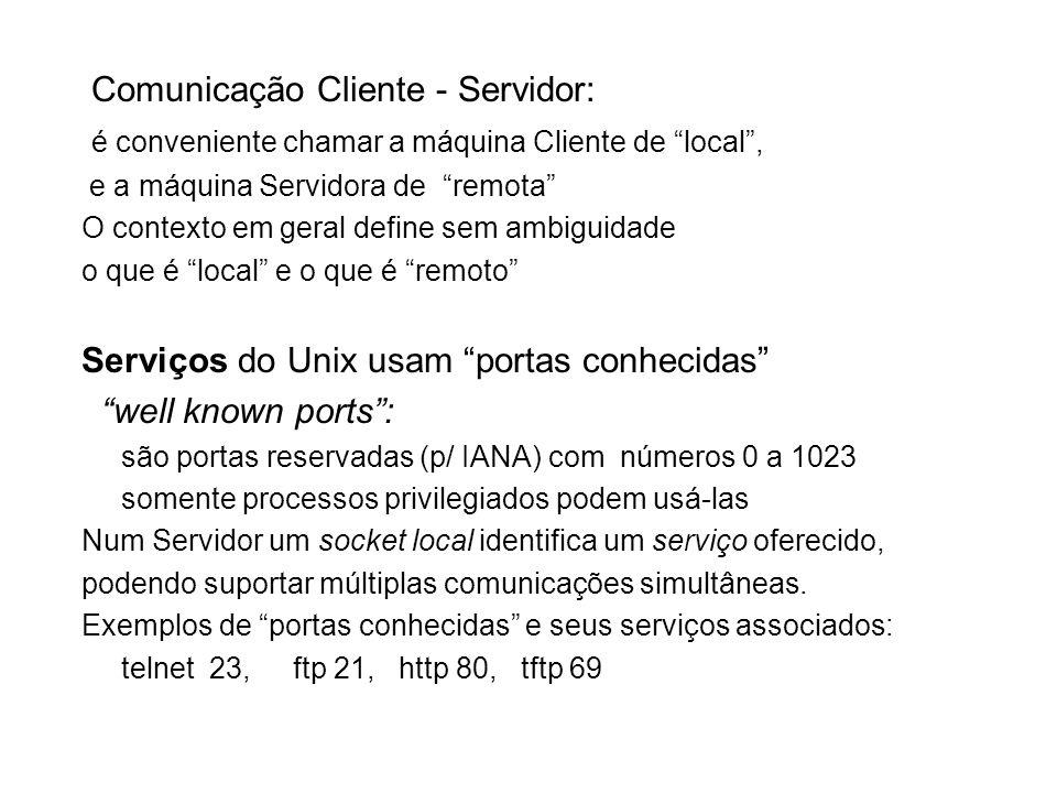 Comunicação Cliente - Servidor: