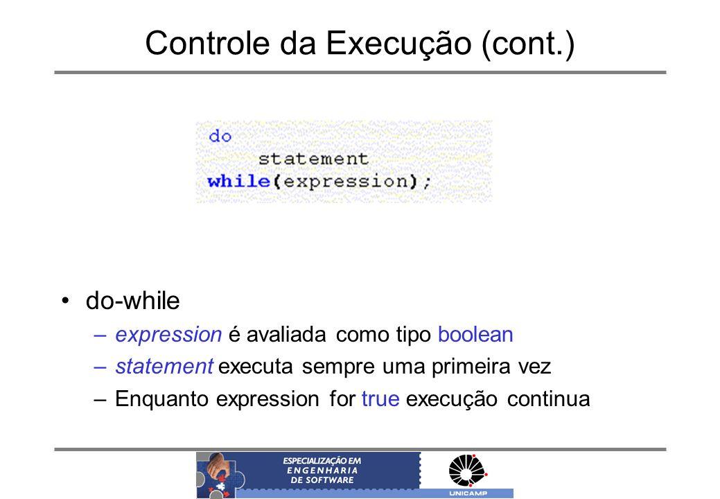 Controle da Execução (cont.)