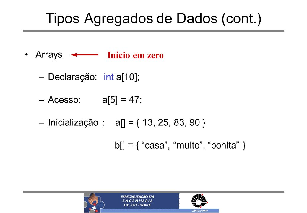 Tipos Agregados de Dados (cont.)