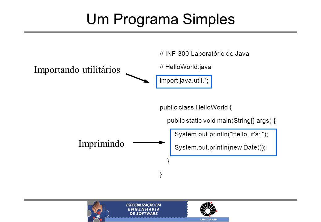 Um Programa Simples Importando utilitários Imprimindo