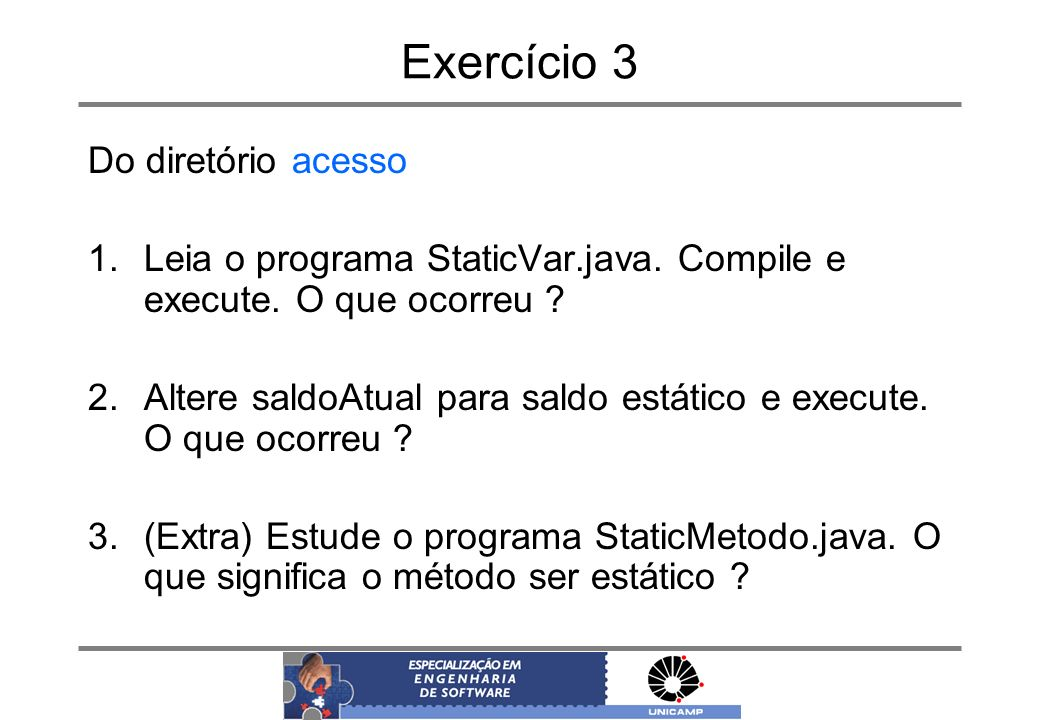 Exercício 3 Do diretório acesso