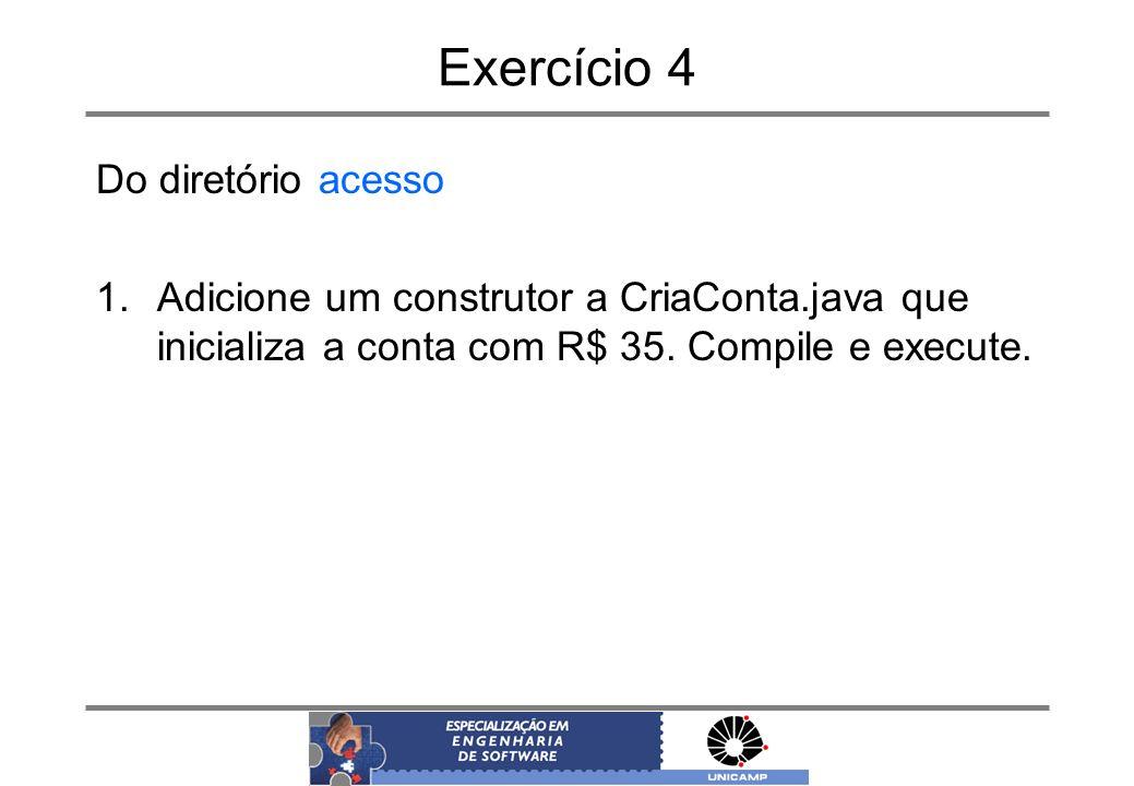 Exercício 4 Do diretório acesso
