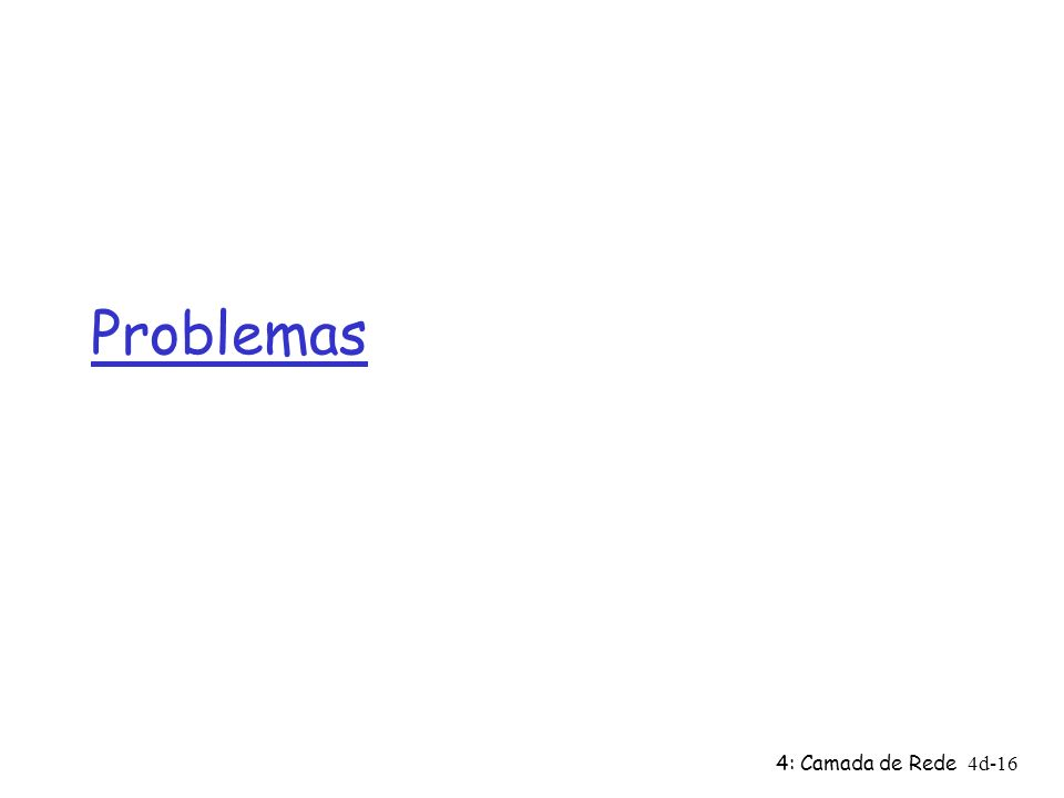 Problemas 4: Camada de Rede