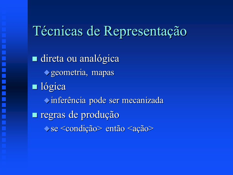 Técnicas de Representação