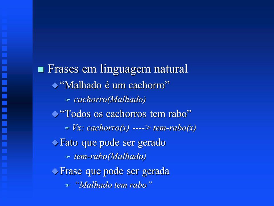 Frases em linguagem natural