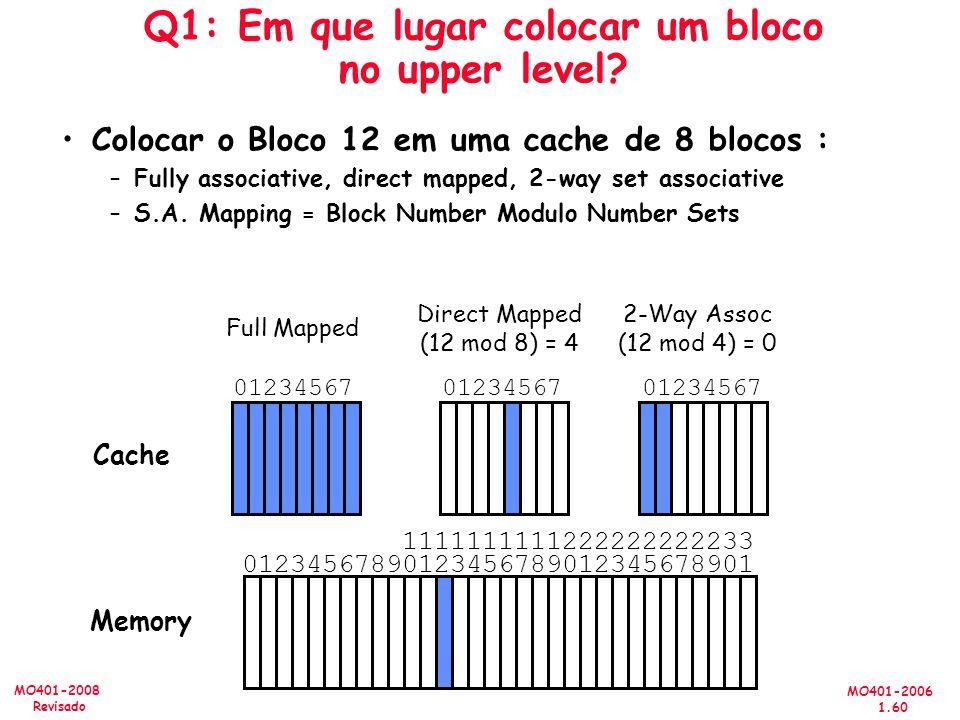 Q1: Em que lugar colocar um bloco no upper level