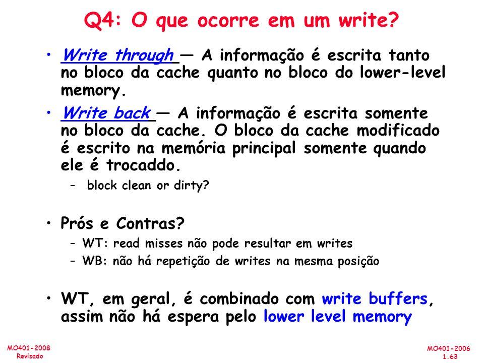 Q4: O que ocorre em um write