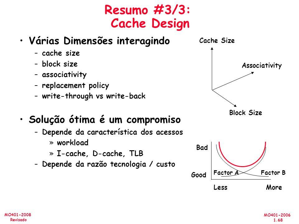 Resumo #3/3: Cache Design
