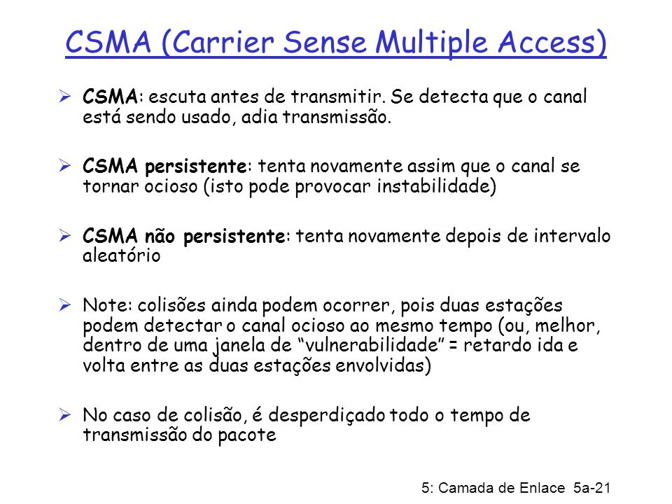 CSMA (Carrier Sense Multiple Access)
