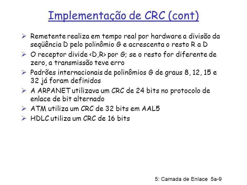 Implementação de CRC (cont)