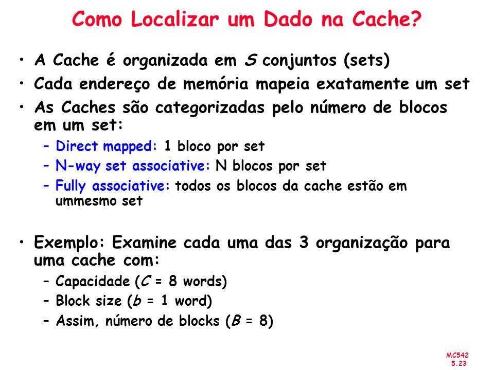 Como Localizar um Dado na Cache