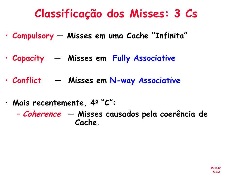 Classificação dos Misses: 3 Cs