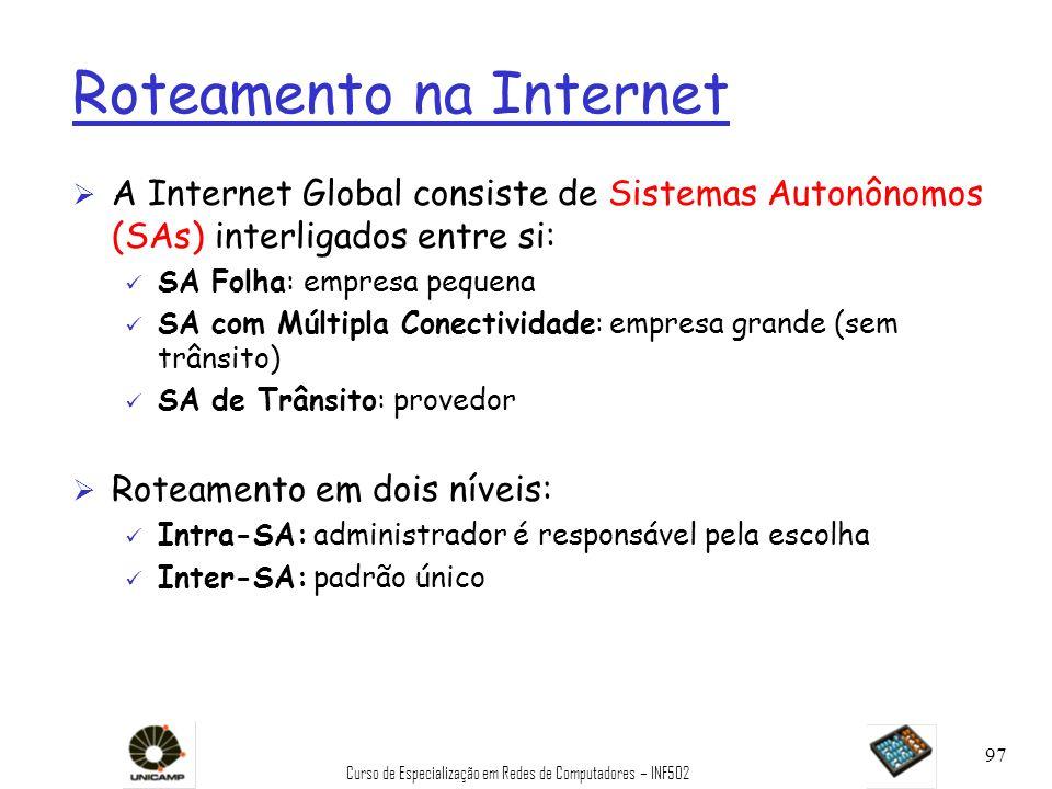 Roteamento na Internet